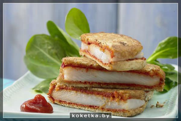 Рыба в хлебном кляре (гренки-сэндвичи)