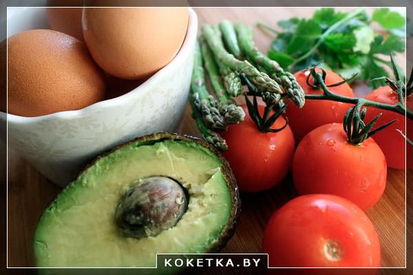 Авакадо и яйца во время диеты